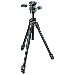 Manfrotto Aluminium tripod MK290DUA3-3W with 3-way tilt unit
