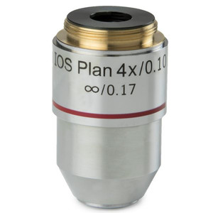 Euromex BB.7204 4X/0.10 plan, infinity microscope objective (for BioBlue.lab)