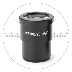 Euromex HWF 10x/20 mm eyepiece with micrometer , SB.6010-M (StereoBlue)