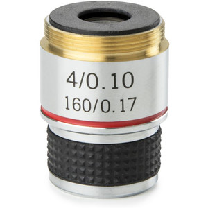 Euromex MB.7004 4X/0.10 achro, parafocal 35mm microscope objective (for MicroBlue)