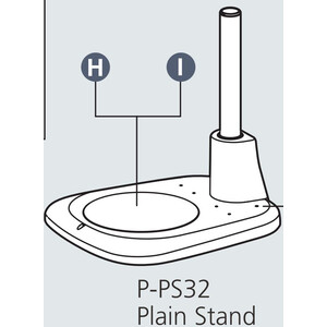 Nikon Stand column P-PS32 Plain Base for incident light with pillar